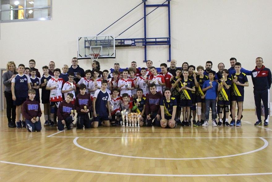 IFinal Six Under 13 Maschile 3x3: Volley Prato Gialla Campione Territoriale 2018/2019