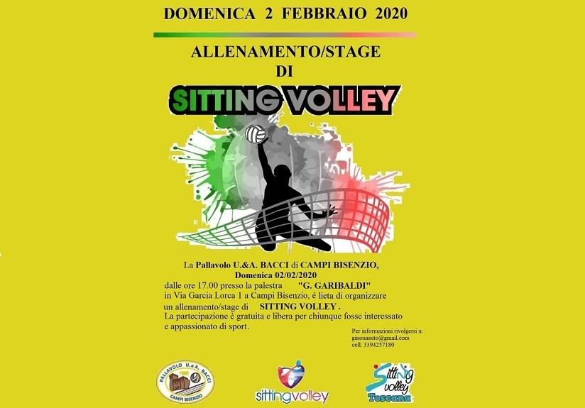 IAllenamento/Stage di Sitting Volley a Campi Bisenzio il 2 febbraio 2020