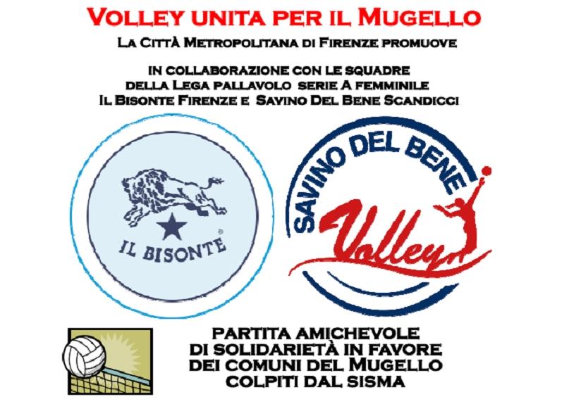 IVOLLEY UNITA PER IL MUGELLO: AMICHEVOLE TRA IL BISONTE FIRENZE E SAVINO DEL BENE VOLLEY SCANDICCI